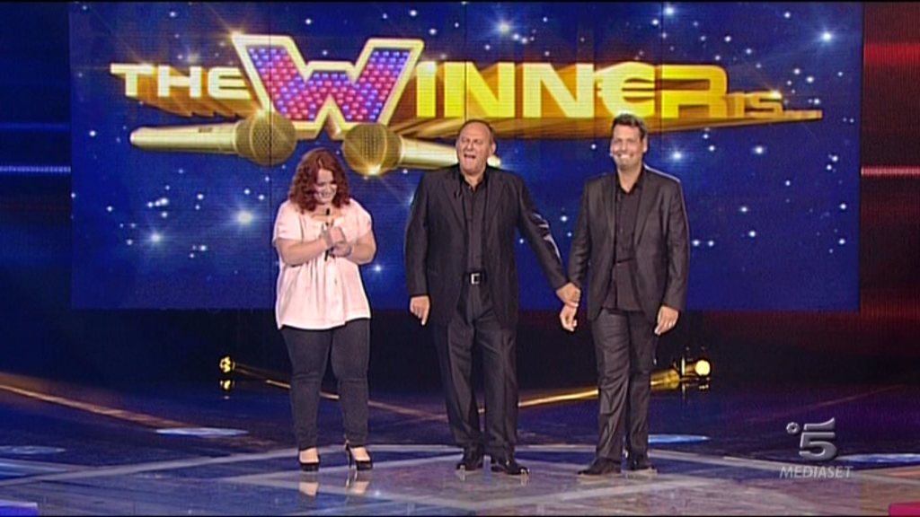 Canzone programma The Winner is con Gerry Scotti su Canale 5 2017