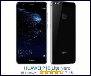 Huawei P10 Lite Smartphone, 5.2 FHD, Memoria Interna da 32 GB, Kirin 658 Octa-core, 4 GB RAM, 4G, Android 7.0, Bianco