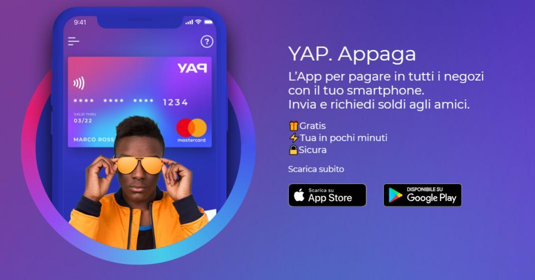 YAP la nuova app per pagare con il telefono ti regala 10 euro