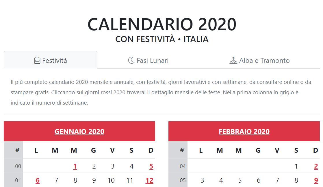 Calendario 2020 Con Festivita Italiane Pdf.L Importanza Di Organizzarsi Con Un Calendario Digitale Jguana