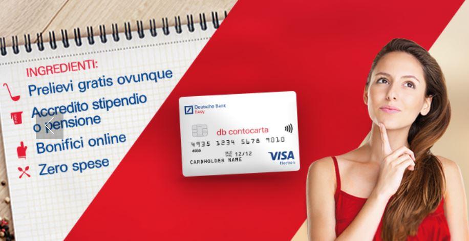 Come accedere a db contocarta (carta di debito Deutsche Bank)