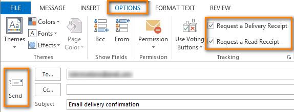 Come inviare la conferma di lettura email su Outlook 2019
